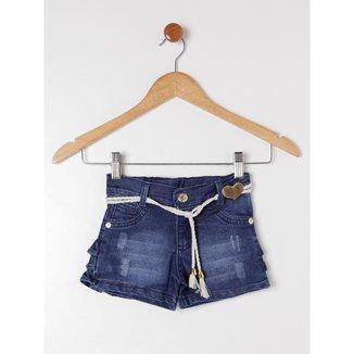 Short Petit Tathi Jeans Infantil Feminino