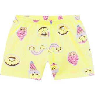 Short Pijama Infantil Feminino Kyly Meia Malha 110575B.4996.12 Kyly
