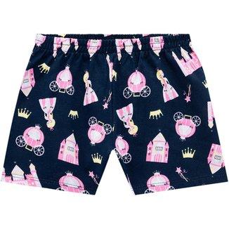 Short Pijama Infantil Feminino Kyly Meia Malha