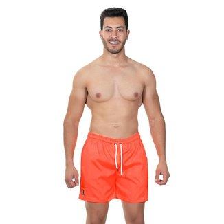 Short Praia Masculino Liso Cordão Bolso Leve Conforto Verão