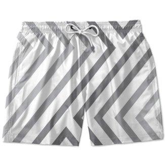 Short Praia Masculino Listras Cordão Bolso Conforto Verão