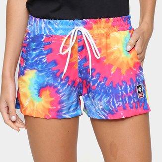Short Qix Tie Dye Neon Feminino