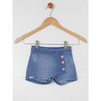 Short Saia Petit Tathi Jeans Infantil Feminino