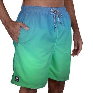Short Tactel Masculino Estampado Elástico Bolsos Praia Verão
