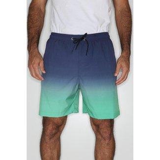 Short True You Brasil Praia Elástico Cordão Tie Dye Masculina