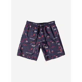 Shorts Aleatory Kids Estampado Yacht Infantil Masculino