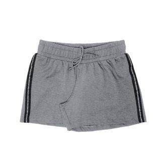 Shorts Basico Detalhado Feminino Rovitex Teen Cinza 14