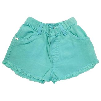 Shorts Bebê Look Jeans Sarja Collor - PINK - G