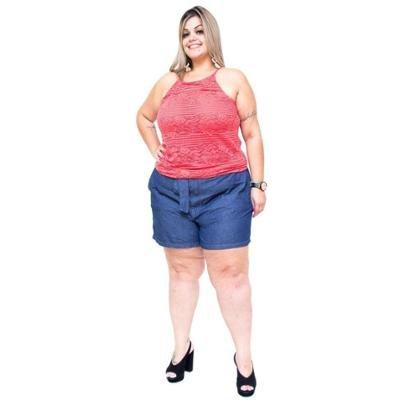 Shorts Cambos Plus Size Thallessa Feminino-Feminino