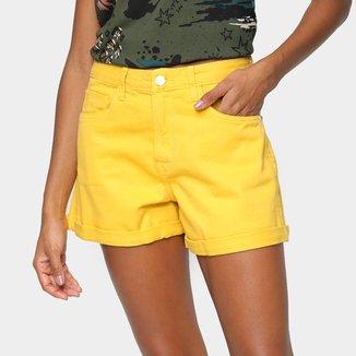 Shorts Cantão Balonê Cintura Alta Feminino