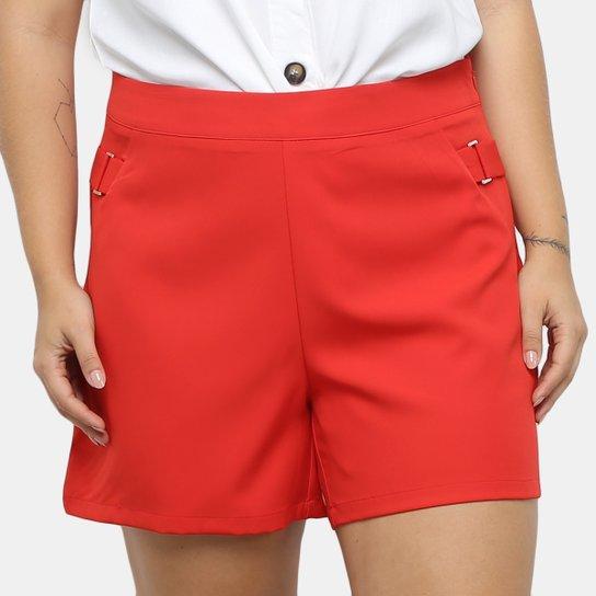 Shorts City Lady Fivela Feminina - Coral