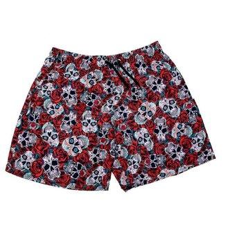 Shorts Club 21 Tactel Mauricinho Praia Liso com Bolso Masculino