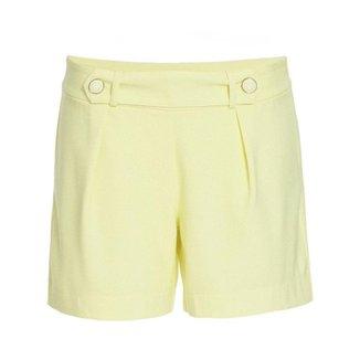 Shorts com  Botão No Cós  Feminino