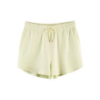 Shorts Curto  Em Algodão Com Amarrração Feminino