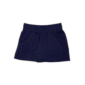 Shorts Detalhado Com Bolso Feminino Rovitex Teen Azul 14