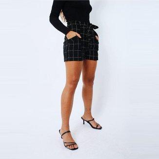 Shorts Eight Brand Cecília Xadrez Feminino