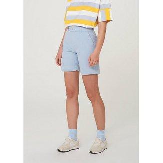 Shorts Em Sarja Alfaiatado Hering Feminino