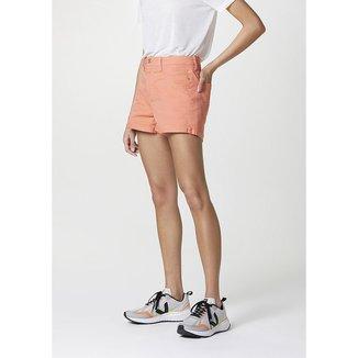 Shorts Em Sarja Cintura Alta Feminino