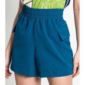 Shorts Feminino Berlin Rovitex Azul P