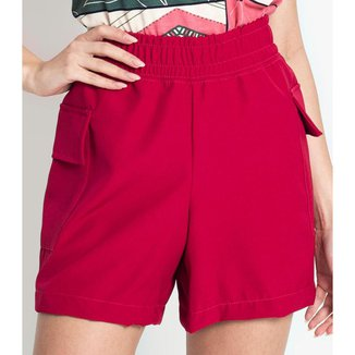 Shorts Feminino Berlin Rovitex Vermelho G