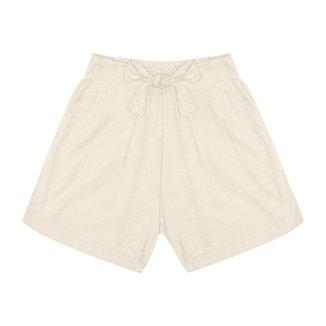 Shorts Feminino Cintura Alta Endless Bege GG