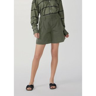 Shorts Feminino Cintura Super Alta Com Elastano - HB98EAISN2