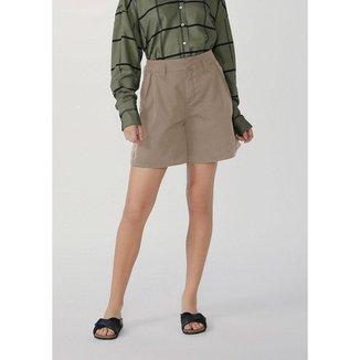 Shorts Feminino Cintura Super Alta Com Elastano