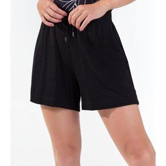 Shorts Feminino Comfy Rovitex Preto GG