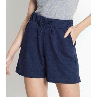 Shorts Feminino de Moletinho Rovitex Azul G