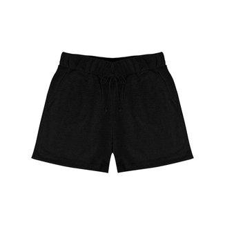 Shorts Feminino de Moletinho Rovitex Preto GG