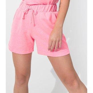 Shorts Feminino de Moletinho Rovitex Rosa P