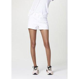 Shorts Feminino Em Sarja Cintura Alta - HB6DRWKEN4