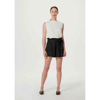 Shorts Feminino Em Tecido Texturizado