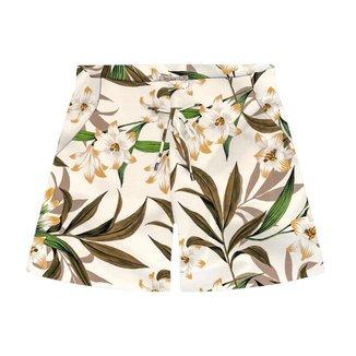 Shorts Feminino Plus Size Floral Secret Glam Bege Plus G2