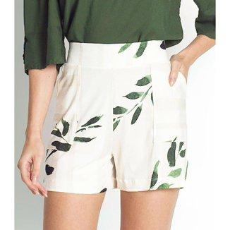 Shorts Feminino Viscose Creponada endless Bege G