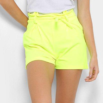 Shorts Flora Zuu Laço Neon-Feminino