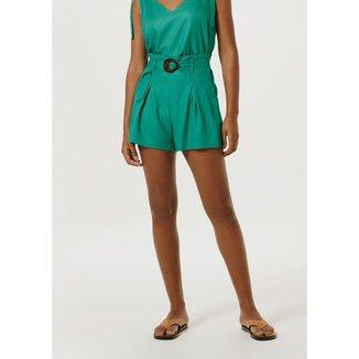 Shorts Hering Cintura Alta Feminino