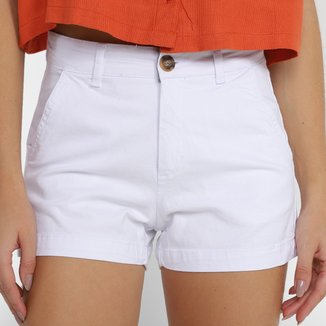 Shorts Hering Reto Cintura Média Feminino