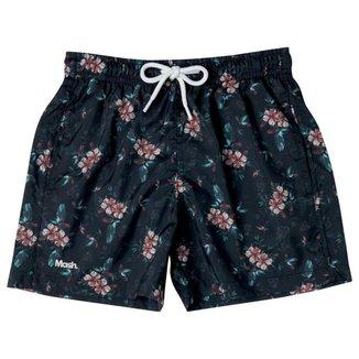 Shorts Infantil Estampado Floral Sombreado Mash Masculino