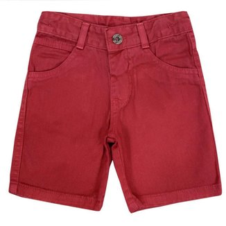Shorts Infantil Look Jeans Sarja Collor Masculino