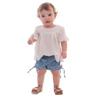 Shorts Infantil MRX Jeans Bebe Feminino