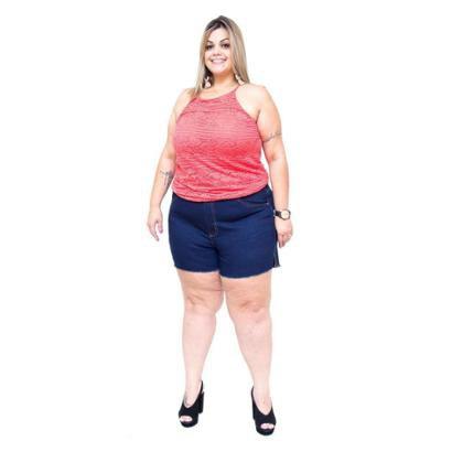 Shorts Jeans Cambos Plus Size Liara Feminino-Feminino