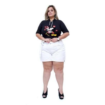 Shorts Jeans Cambos Plus Size Riana Feminino-Feminino