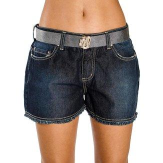 Shorts Jeans Desfiado Barra com Cinto A.Cult  Feminina