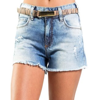 Shorts Jeans Destonado Destroyed Desfiado Cinto Colcci