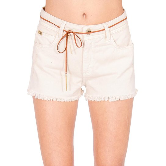 Shorts Jeans Destroyed Colcci - Off White