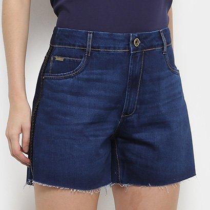 Shorts Jeans Enna Hot Pants Barra Desfiada Feminino