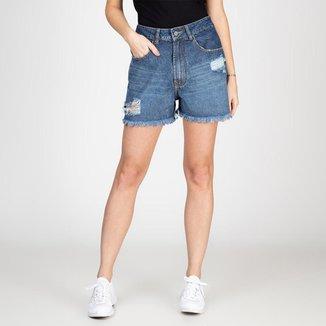 Shorts Jeans Ex Boyfriend Destroyed Bloom Feminino