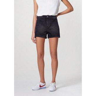 Shorts Jeans Feminino Cintura Alta Soft Touch - HB741FSN5