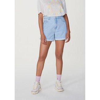 Shorts Jeans Feminino Mom Cintura Super Alta